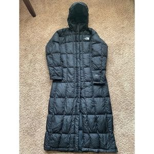 North Face M 700 Down Long Parka Jacket Coat Black
